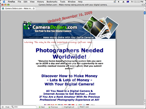 Make money taking pictures with your digital camera. Photographers Needed Worldwide!