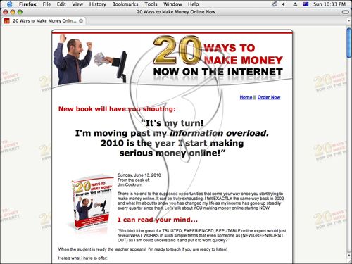 20 ways to make money on the internet.