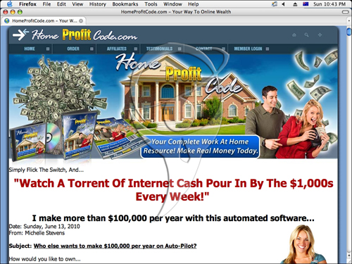 Home Profit Code - your complete work at home resource! Make real money today.