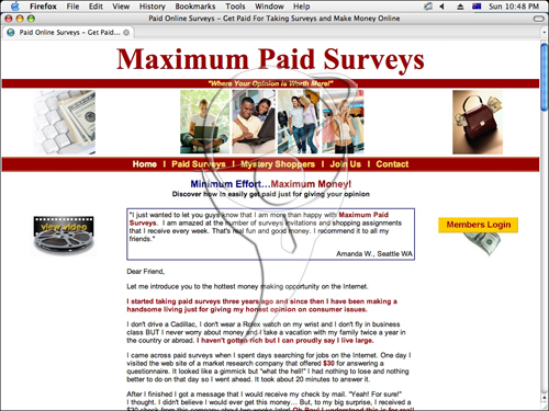 Minimum Effort…Maximum Money! Discover how to easily get paid just for giving your opinion