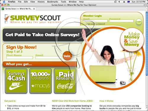 Get paid to take online surveys.