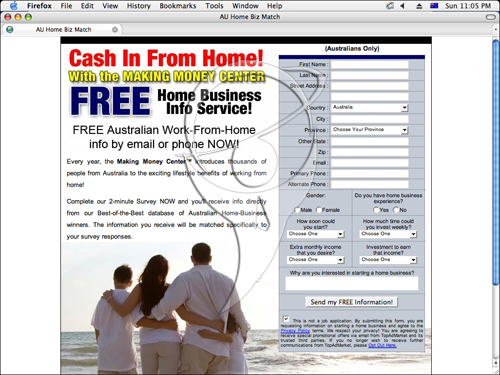 Cash In From Home ! With the money making centre.