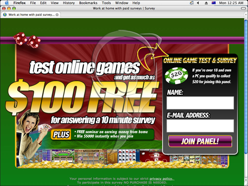 Test online games and get as much as $100 FREE for answering a 10 minute survey