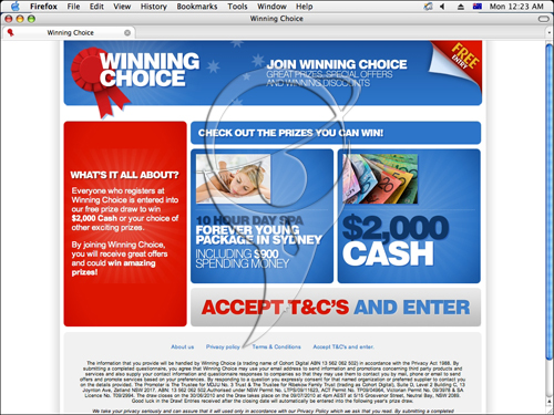WinningChoice is an Australian company aiming to bring you some of the best offers, discounts and competitions on the Internet.