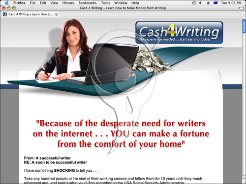 Cash 4 Writing - no experience needed... start earning today!