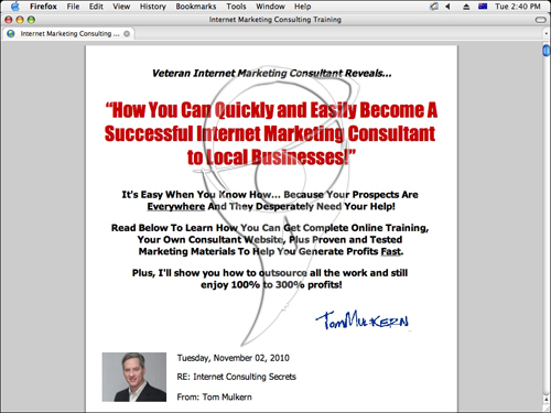 Internet Consulting Secrets Home Study Course