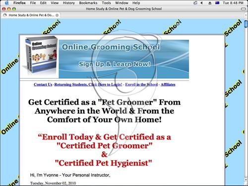 Pet Grooming School, Get Certified Online, World Wide!