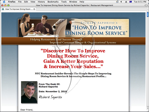 Discover How To Improve Dining Room Service, Gain A Better Reputation & Increase Your Sales...