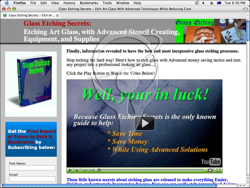 Etch Glass with Low Cost Solutions Craft or Business