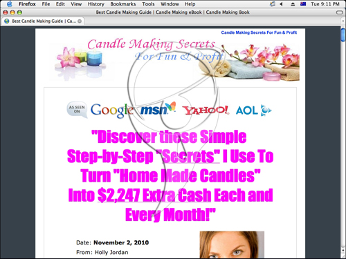 """Discover these Simple  Step-by-Step """"Secrets"""" I Use To Turn """"Home Made Candles"""" Into  $2,247 Extra Cash Each and Every Month!"""