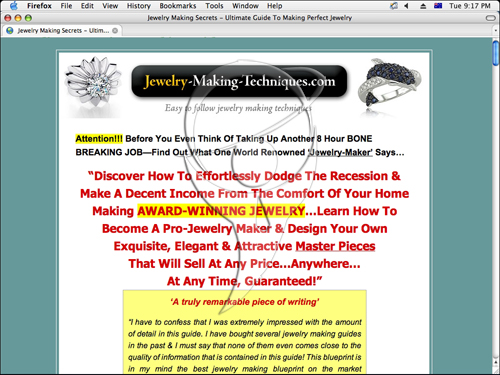 Jewellery Making Secrets - Hot Product! Best Conversions!