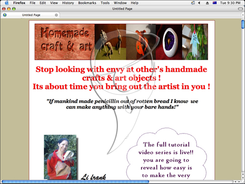 Home made crafts and art