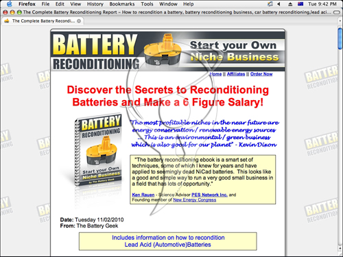 The Battery Reconditioning Report