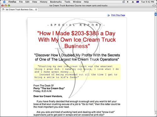 Ice Cream Truck Profits.