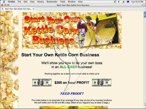 Start Your Own Kettle Corn Business