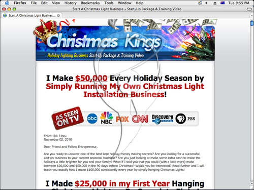 Christmas Light Business Package & Training Video