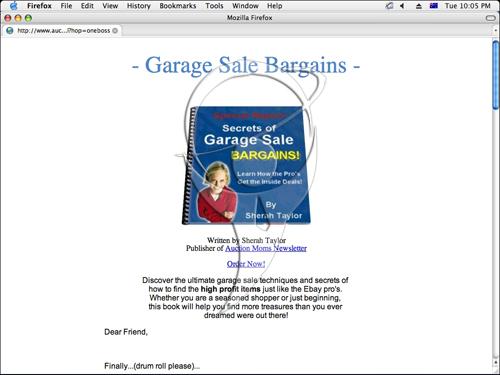 Secrets Of Garage Sale Bargains