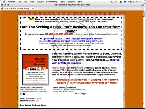 Start Resume-Writing Business