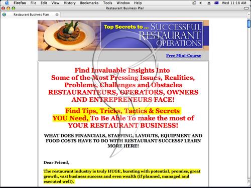 Restaurant Business Secrets