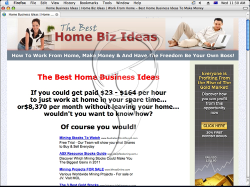 Home Biz Ideas Goldmine - 1035 Ideas!