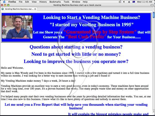 Vending Business Ebook Course