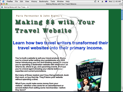 Making Money with Your Travel Website