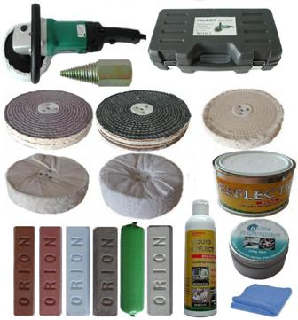 "Polisher With Polishing Buffing Kit  8""x 2 section"