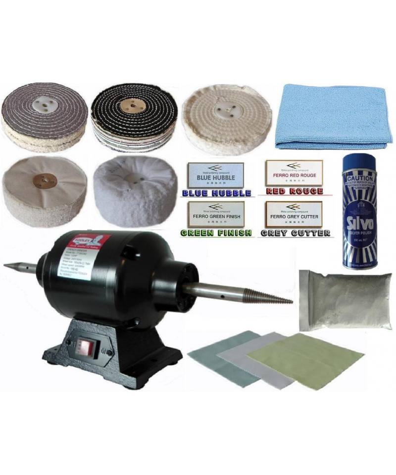 "Jewellery Polishing Kit 6"" x 2 Section with 1/2HP Bench Grinder/polisher"