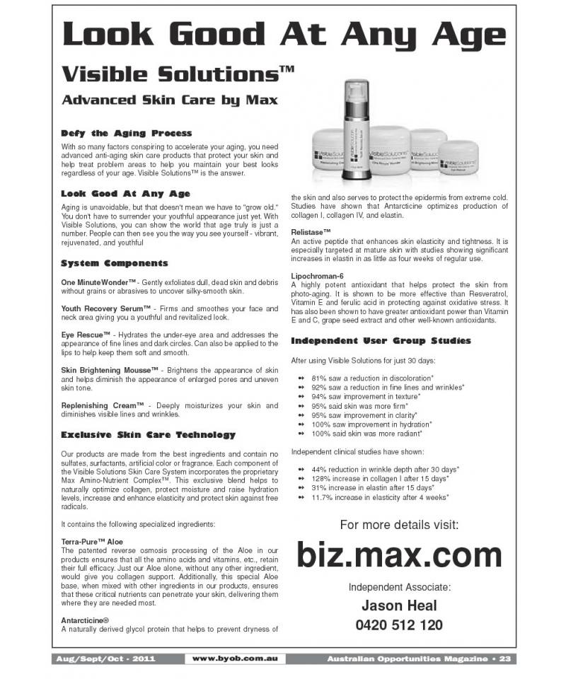 Look Good At Any Age - Visible Solutions™ Advanced Skin Care by Max