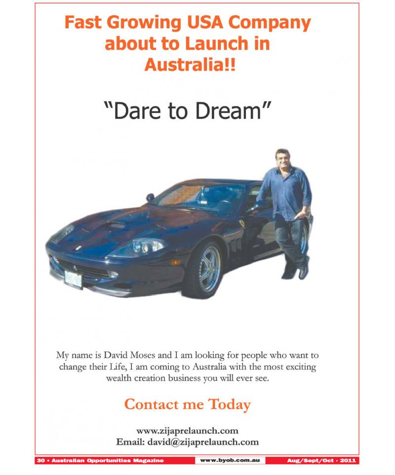 Fast Growing USA Company about to Launch in Australia!!